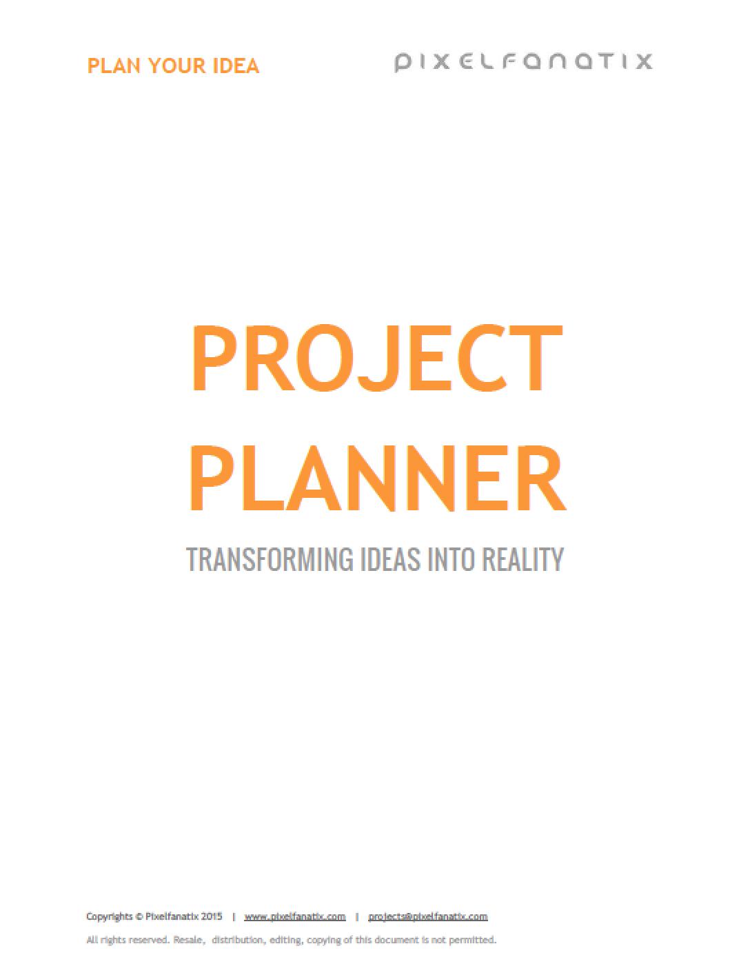 project planner level 2 pixelfanatix website design